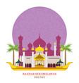 bandar seri begawan brunei with decoration vector image
