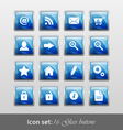 16 glass buttons vector image
