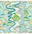 seamless pattern of a colored fishes vector image vector image