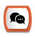 icon dialogue vector image
