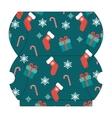 Christmas gift box template vector image