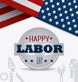 Labor day USA design vector image