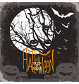 halloween scary card vector image vector image