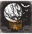 halloween scary card vector image
