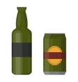 Beer bottle vector image