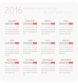 Calendars for 2016 vector image