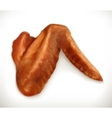 Chicken wings icon vector image