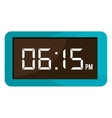 colorful electronic watch graphic vector image
