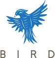 design template of the abstract bird vector image