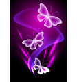 Fantasy transparent butterfly vector image