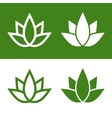 Green Lotus Plant Icon Set Logo vector image