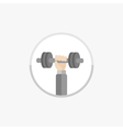 Hand with dumbell Round Icon Sport Fitness vector image