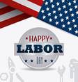 Labor day USA design vector image