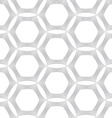 Repeating ornament many lines forming hexagons vector image