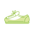 silhouette sneaker to practice exercise and train vector image