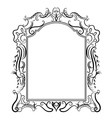 Stylized baroque frame vector image
