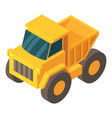 truck icon isometric 3d style vector image