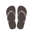 silhouette Beach flip-flops with brown bottom vector image
