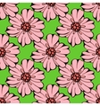 set of hand drawn colorful flowers and leaf vector image
