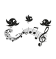 Musical notes with birds vector image vector image