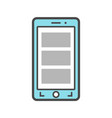 smartphone isolated linear icon vector image