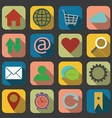 Flat Website and Internet Icon vector image