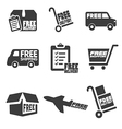 Free Shipping icons and buttons pack vector image