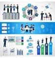 Teamwork Infographic Set vector image vector image
