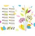 abstract floral calendar 2012 vector image