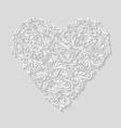 Decorated heart vector image