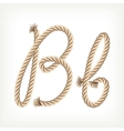 Rope alphabet Letter B vector image vector image