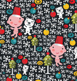 Christmas Baby Pattern vector image