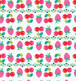 Background with Cherry and strawberry vector image