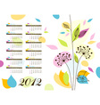 abstract floral calendar 2012 vector image