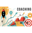 Coaching concept line art colorful modern design vector image