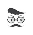 man in glasses with a forelock and mustache vector image