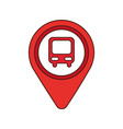 map pointer with symbol bus station for location vector image