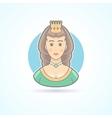 Queen princess royal penson icon vector image