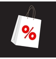 Sale Label on Shopping Bag vector image