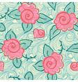 Seamless rose pattern vector image