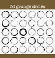 set of 30 grunge circle textures vector image
