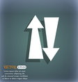 Two way traffic icon On the blue-green abstract vector image
