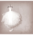 wedding dress on grungy background vector image