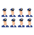 set of policeman characters vector image