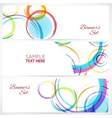 Banners set of abstract colorful background with vector image