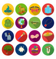 leaf nature mushroom and other web icon in flat vector image