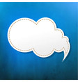 Blue Texture With Speech Bubble vector image vector image