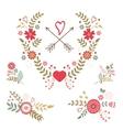 Beautiful collection of floral compositions vector image