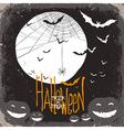 halloween scary scene card vector image