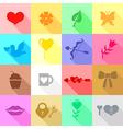 valentine icon flat vector image vector image